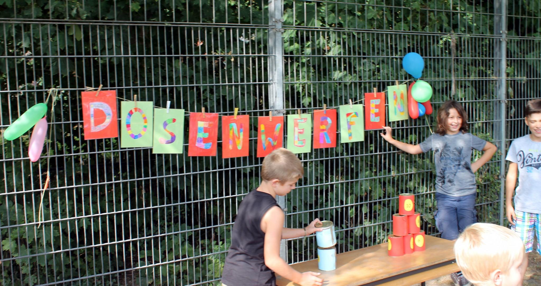 Sommerfest 2016 Dosenwerfen